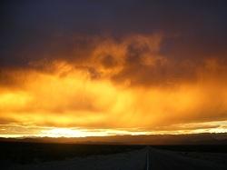 yellow-orange sunset