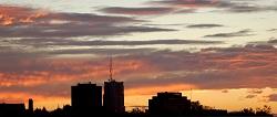 peach sky sunrise