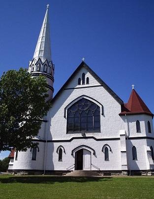 PEI white church