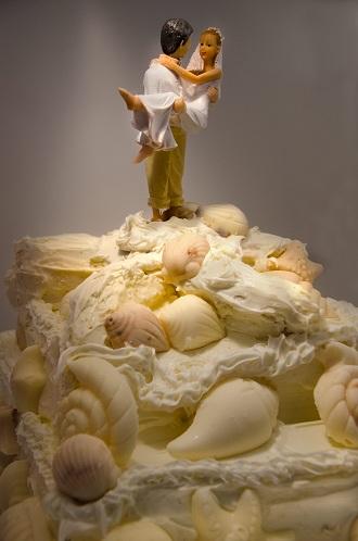 bride groom cake topper