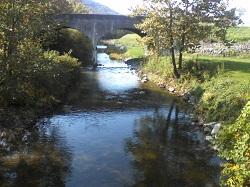river under bridge