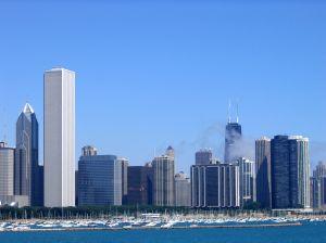 Chicago Skyline Lake Michigan view
