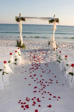 ocean wedding view