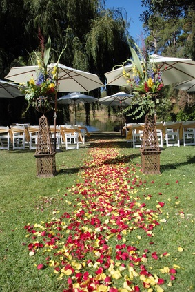 garden wedding umbrellas