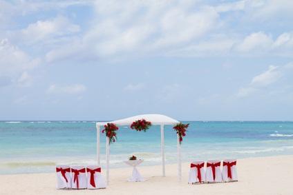 white arch on sand