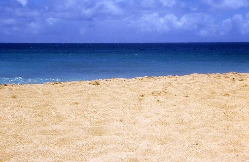 beach and pacific ocean