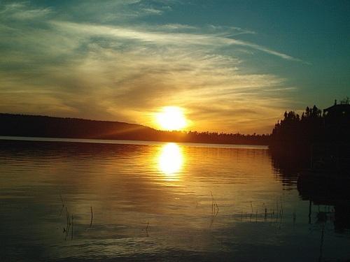 Manitoba yellow peach sunset