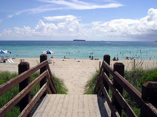 walkway leading to beach