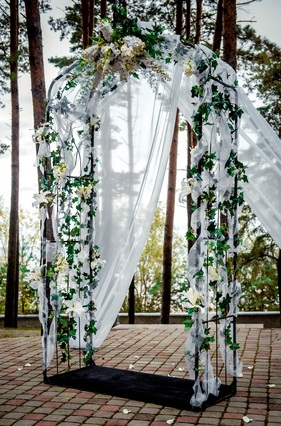flowered wedding arch