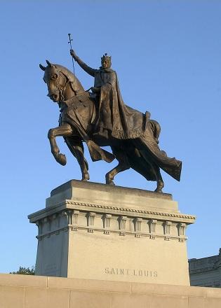 saint statue on a horse