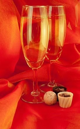 champagne filled glasses