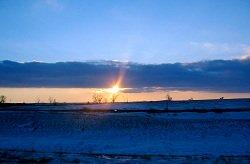 sunset blue sky over ocean