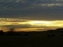 yellow and gray sunset
